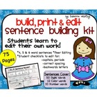 Weekly Freebie - Sentence Building and Self-Editing