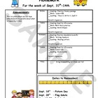 Weekly Homework Newsletters