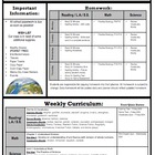 Weekly Homework and Curriculum Newsletter Templates (2)