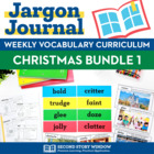 Weekly Interactive Vocabulary Notebook Unit Christmas Bundle