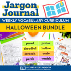 Weekly Interactive Vocabulary Notebook Unit Halloween Bundle