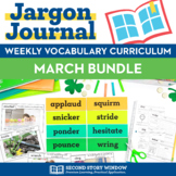 Weekly Interactive Vocabulary Notebook Unit March Bundle