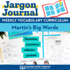 Weekly Interactive Vocabulary Notebook Unit for Martins Big Words