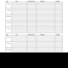 Weekly Lesson Plan Form