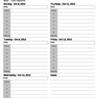 Weekly Lesson Plan Template - Excel File