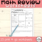 Weekly Manic Math Worksheets