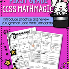 Weekly Math Magic - First Grade, Set 2 (CCSS aligned)