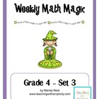 Weekly Math Magic - Fourth Grade, Set 3 (CCSS aligned)