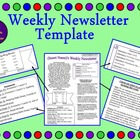 Weekly Newsletter Template (Editable!)