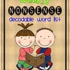 Weekly Nonsense Word Checks