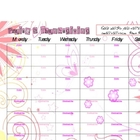 Weekly Priase & Thanksgiving sheet- pink