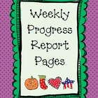Weekly Progress Report Pages