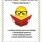Weekly Reader Response Journal - Story Elements