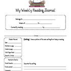 Weekly Reading Journal Response Sheets For Building Comprehension