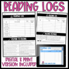 Weekly Reading Log with Specific Response Topics