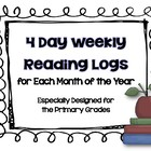Weekly Reading Logs for the Primary Grades