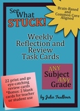 Weekly Review and Reflection Task Cards {Any Subject & Any Grade}