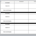 Weekly Scheduling or Assignment Sheet for Block Schedules