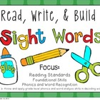 Weekly Sight Words: Read, Write & Build FREEBIE