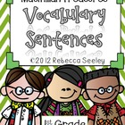 Weekly Vocabulary Sentences- Macmillan Treasures 1st Grade