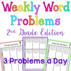 Weekly Word Problems - Bundle - 2nd grade