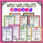 Weekly Word Problems - Bundle