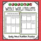 Weekly Word Problems December