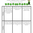 Weekly Word Problems March - 2nd Grade