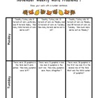 Weekly Word Problems November - 2nd Grade