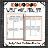 Weekly Word Problems October