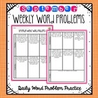 Weekly Word Problems September