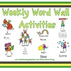 Weekly Word Wall Word Activities