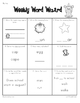 Weekly Word Wizard - First Grade - CCSS Aligned, Set 1