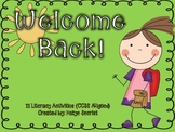 Welcome Back { 11 Back to School Literacy Activities CCSS