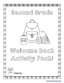 Welcome Back Activity Pack - 2nd grade