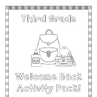 Welcome Back Activity Pack -3rd grade