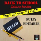 Welcome Back to School Letter to Students and Families