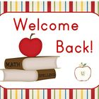 Welcome Back to School Sign (Apples)
