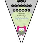 Welcome Banner Owl Theme