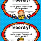First Day Certificates Pre-School, Kindergarten, and First