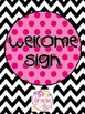 Welcome Sign - Black/White and Bright Theme