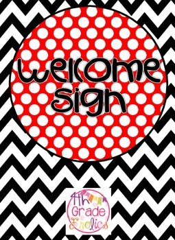 Welcome Sign - Red/Black/White/Yellow Theme