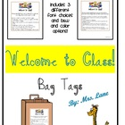 """Welcome To Class!"" First Day Gift Idea For Students (Bag Tags)"