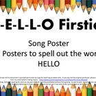 Welcome To School Hello Firsties Song and Letter Posters