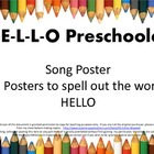 Welcome To School Hello Preschoolers Song and Letter Posters