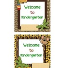 Welcome to Kindergarten, 1st, Welcome Back Notes - Jungle