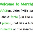 Welcome to March! Elementary Music Lesson- MARCHes, Form,