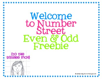 Welcome to Number Street- Even and Odd Number Practice!