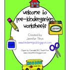Welcome to Pre-K Worksheets and Activities