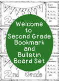 Welcome to Second Grade Bookmark Back to School Printable